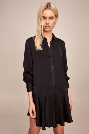 Archer L/S Shirt Dress Black