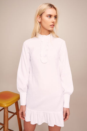 Radiate Shirt Dress White
