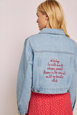 Oh Baby Denim Jacket Sky Wash