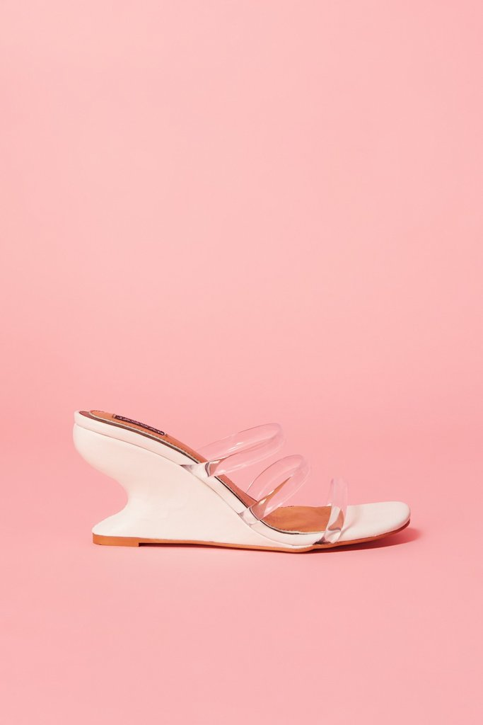 Contour Wedge Slide Ivory