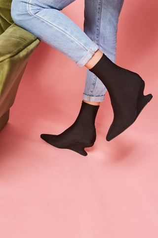 Silhouette Sock Boot Black
