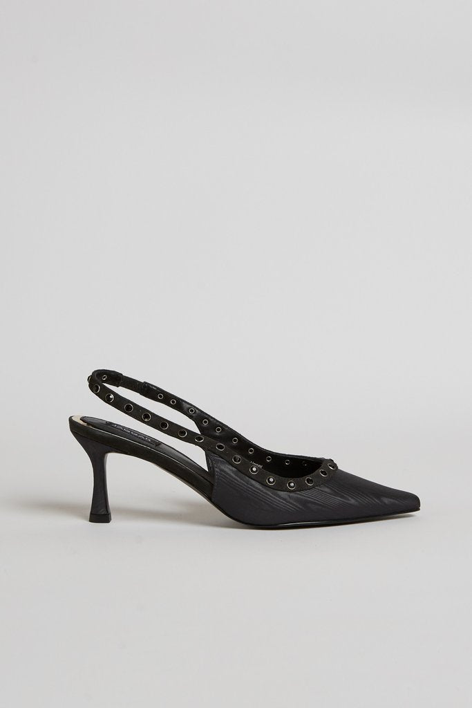 Jeweled Slingback Heel Black