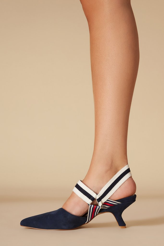 Active Kitten Heel Navy