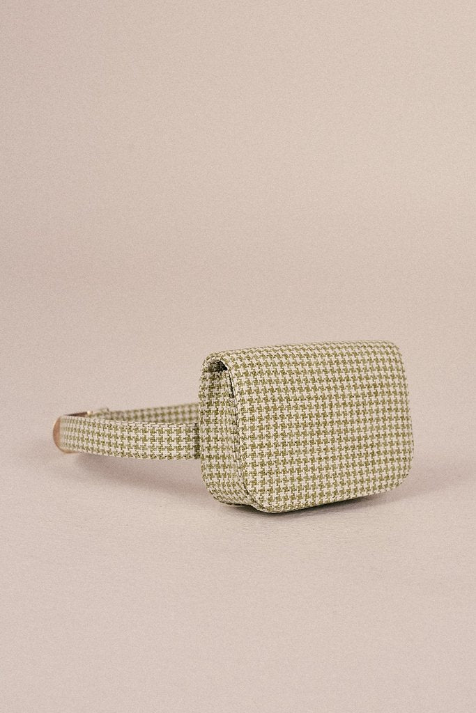 Belt Bag Houndstooth Sage