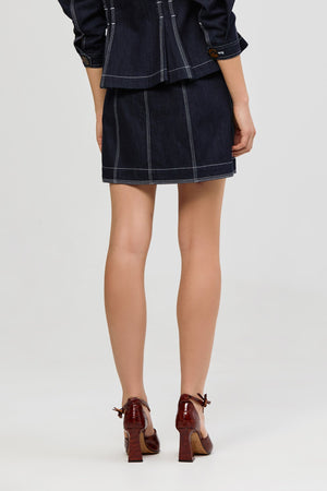 Golding Denim Skirt Dark Denim