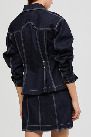 Priestly Denim Jacket Dark Navy