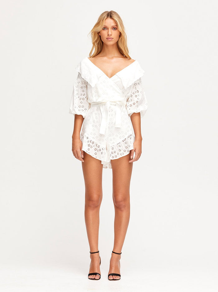 Wilde Grotto Playsuit Porcelain