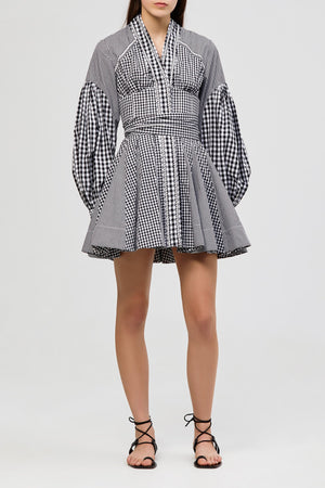 Lella Dress Monochrome Gingham