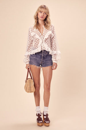 Charlotte Lace Blouse White
