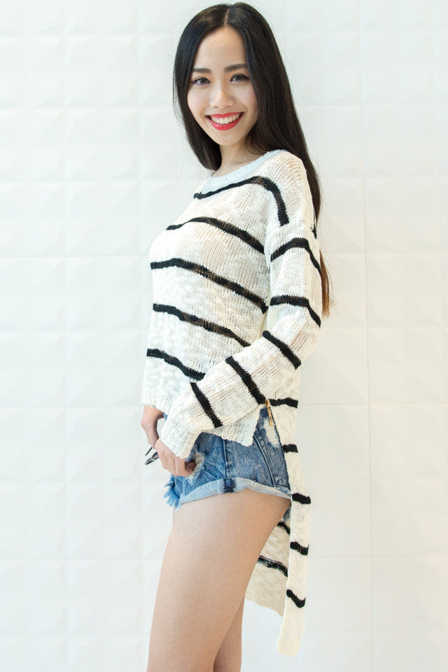 Stripes Creamy Jumper