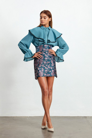 Coastal Blouse Peacock