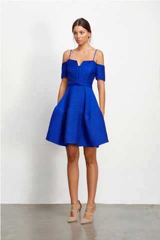 Lysander Dress Cobalt - Sallyrose