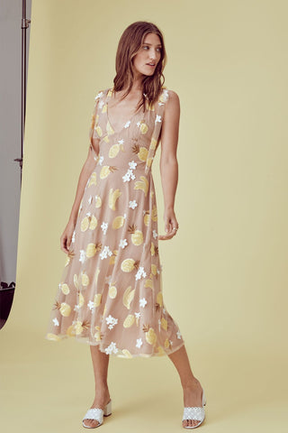 Fruitpunch Sequin Midi Dress Pineapple