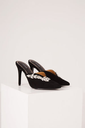 MYTH JEWELLED HEEL black - Sallyrose