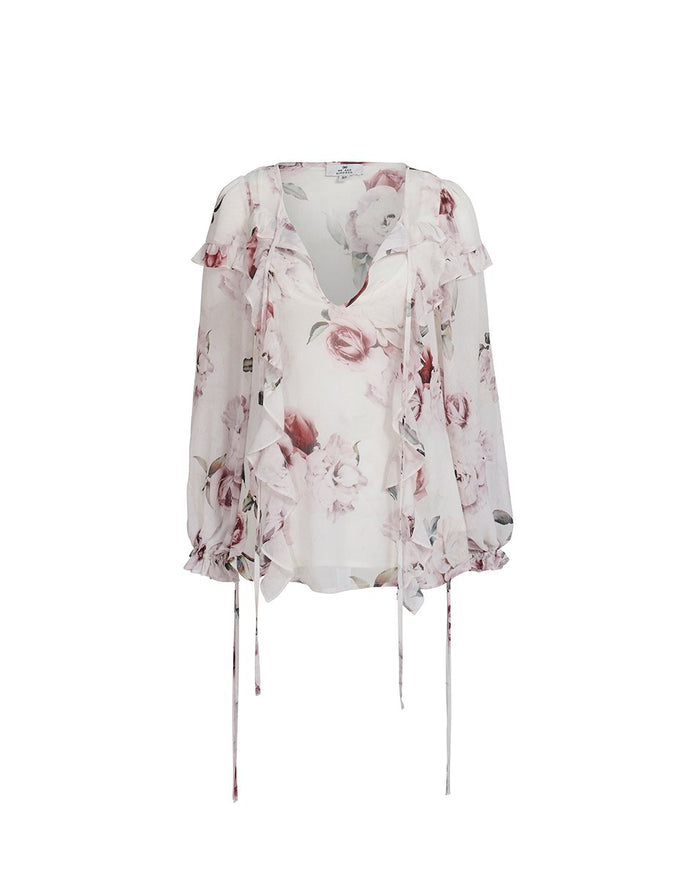 Jemima Blouse White Rose