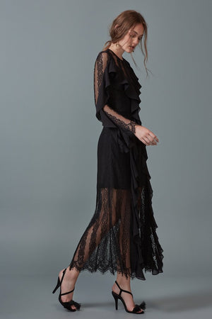 BETTER DAYS LACE GOWN black - Sallyrose