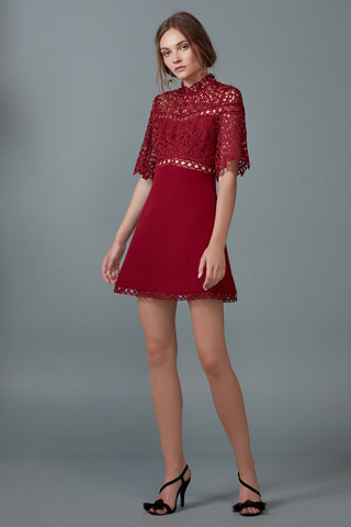UPLIFTED MINI DRESS burnt red