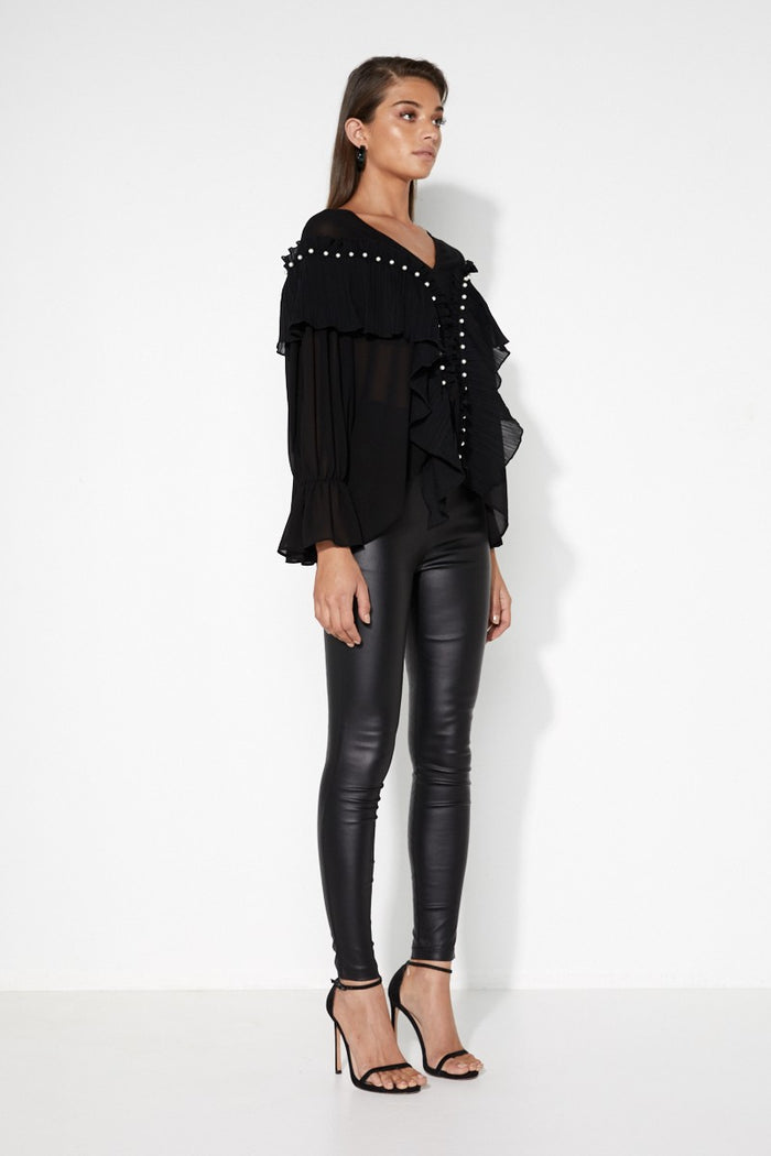 Into The Fold Top Black