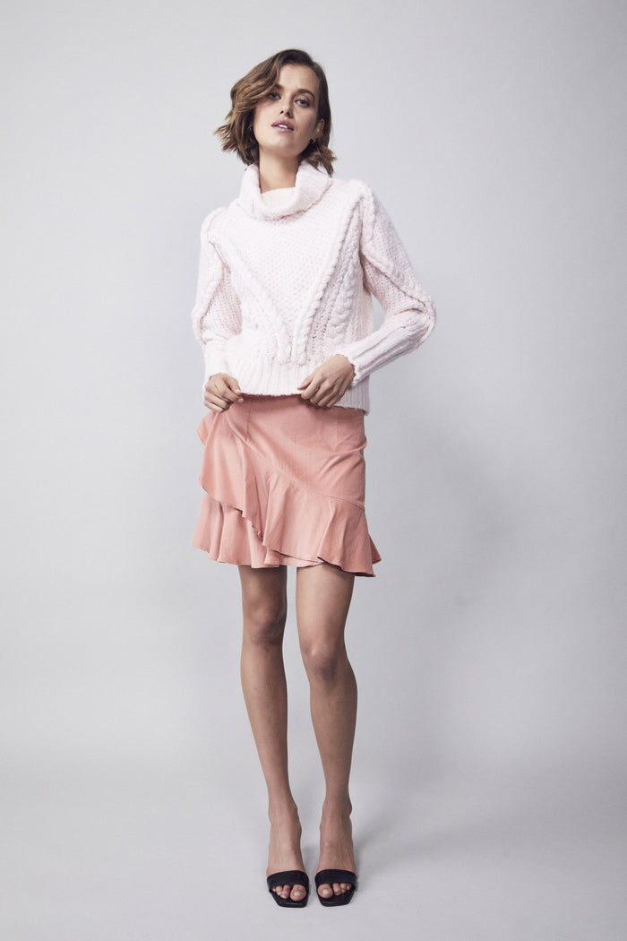 Cable Knit Jumper Pale Pink