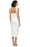 Getaway Brassiere Midi Dress White