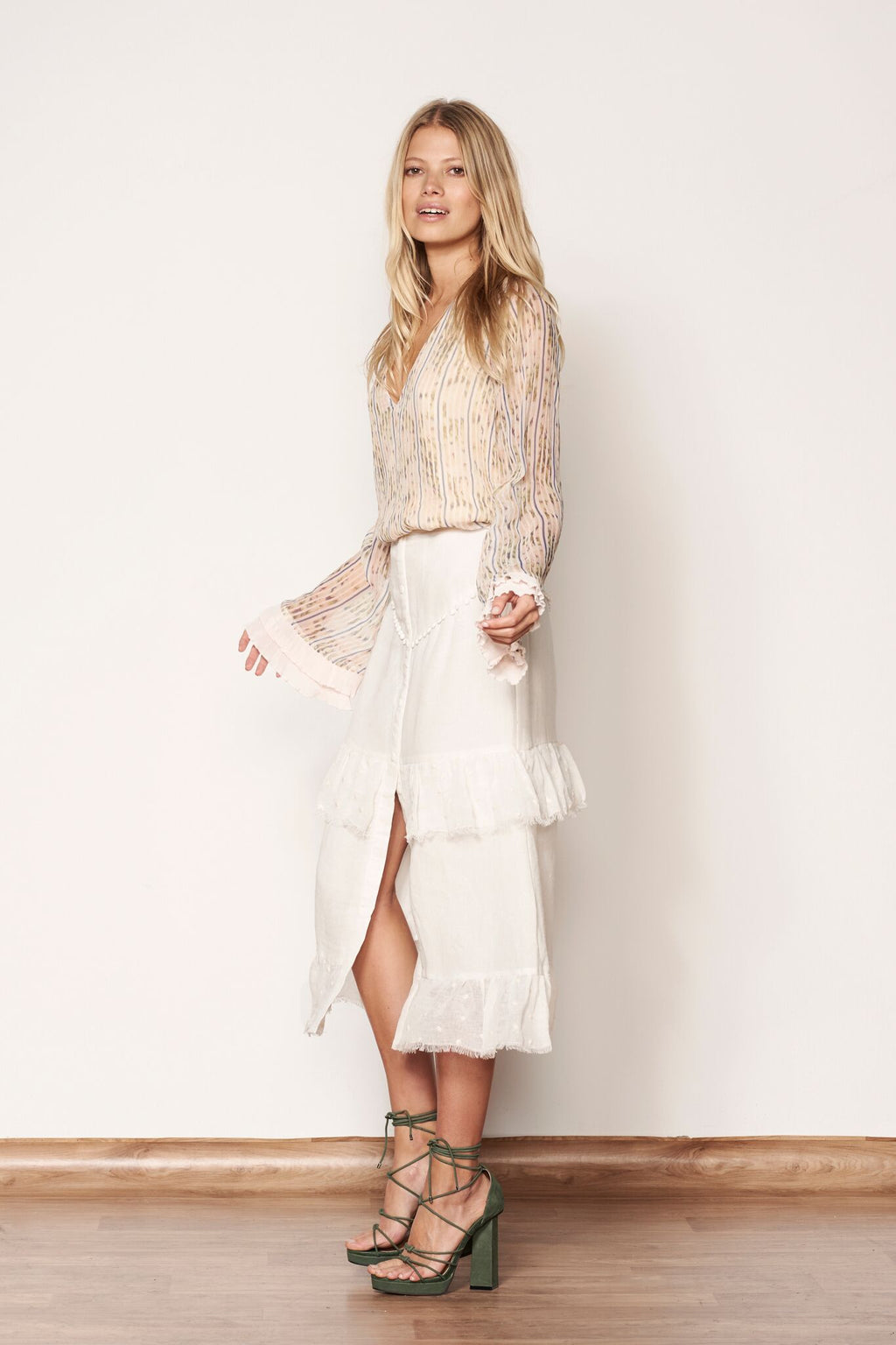 Empyreal Maxi Skirt Off White