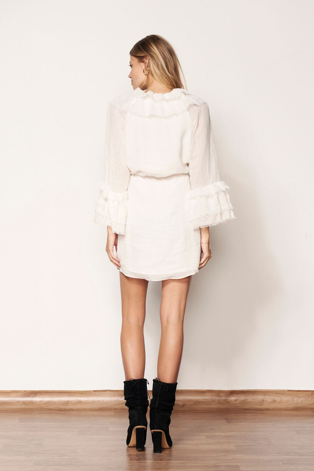 Empyreal L/S Mini Dress Off White
