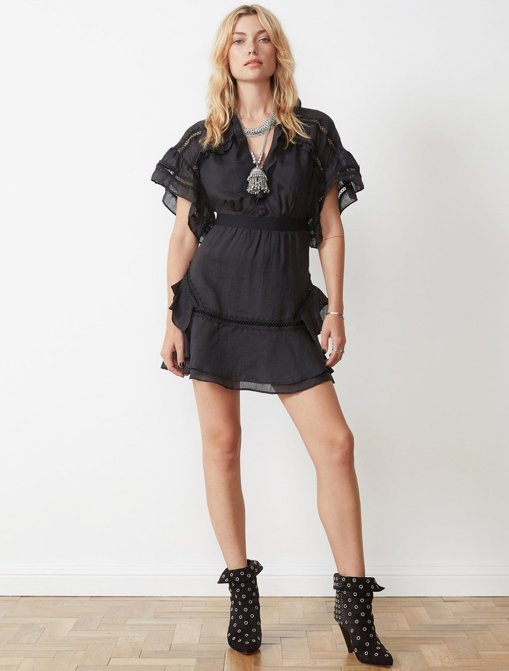 Fleur Mini Dress Black