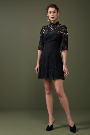 STAR CROSSED LACE MINI DRESS