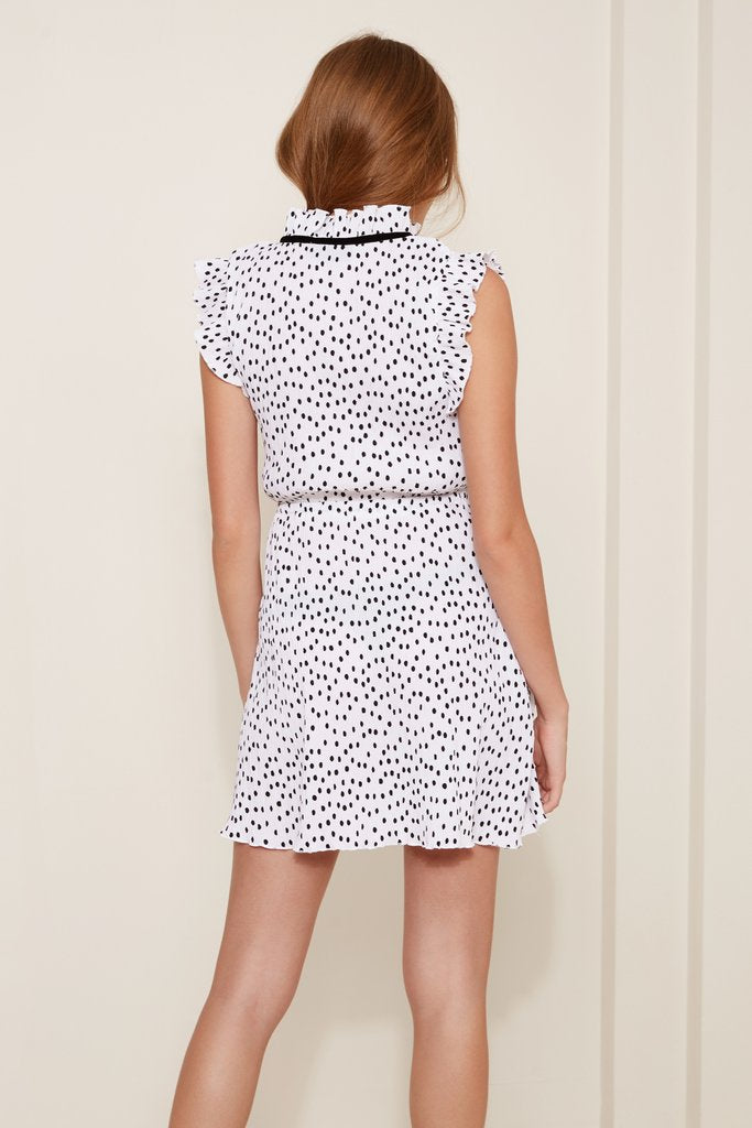 ATLANTA POLKA DOT DRESS IN BLACK AND WHITE