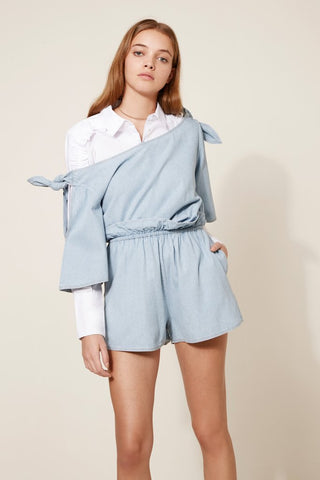 MANIA PLAYSUIT light wash - Sallyrose