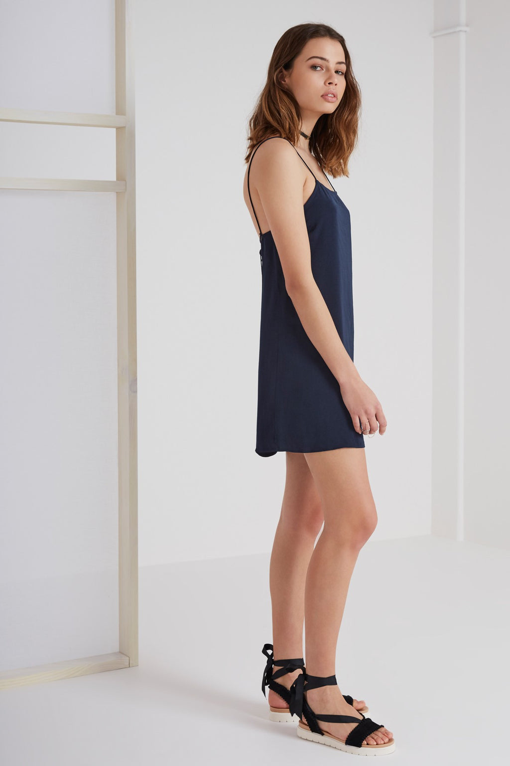 The Nightingale Cami Dress in Navy