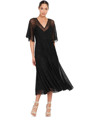 CANDID LACE MIDI DRESS - Sallyrose