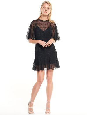 CANDID LACE SHIFT MINI DRESS - Sallyrose