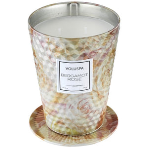 Bergamot Rose Table Candle