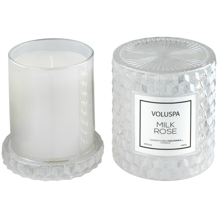 Milk Rose Icon Cloche Candle