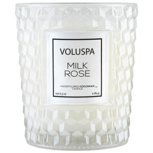 Milk Rose Classic Glass Candle