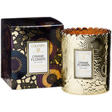VOLUSPA Crane Flower Scalloped  Edge Candle