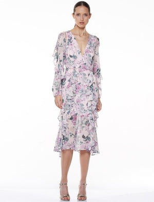Floral Pleasure L/S Midi Dress - Sallyrose