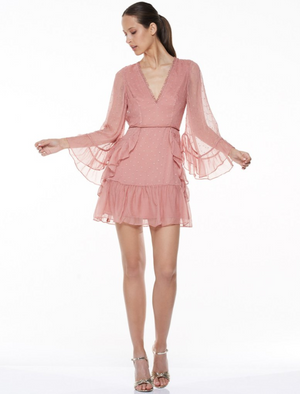 Infatuation Mini Dress Misty Rose - Sallyrose