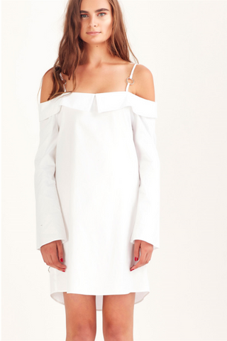 You Forgot Your Ring Ring Dress White - Sallyrose