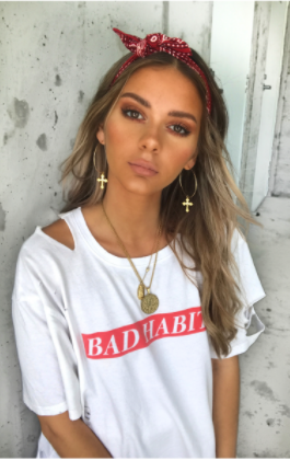 Bad Habits Tee White - Sallyrose