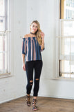 BLUE ANE RED TOP - Sallyrose