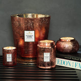 VOLUSPA Persimmon & Copal Large Embossed Glass Jar Candle