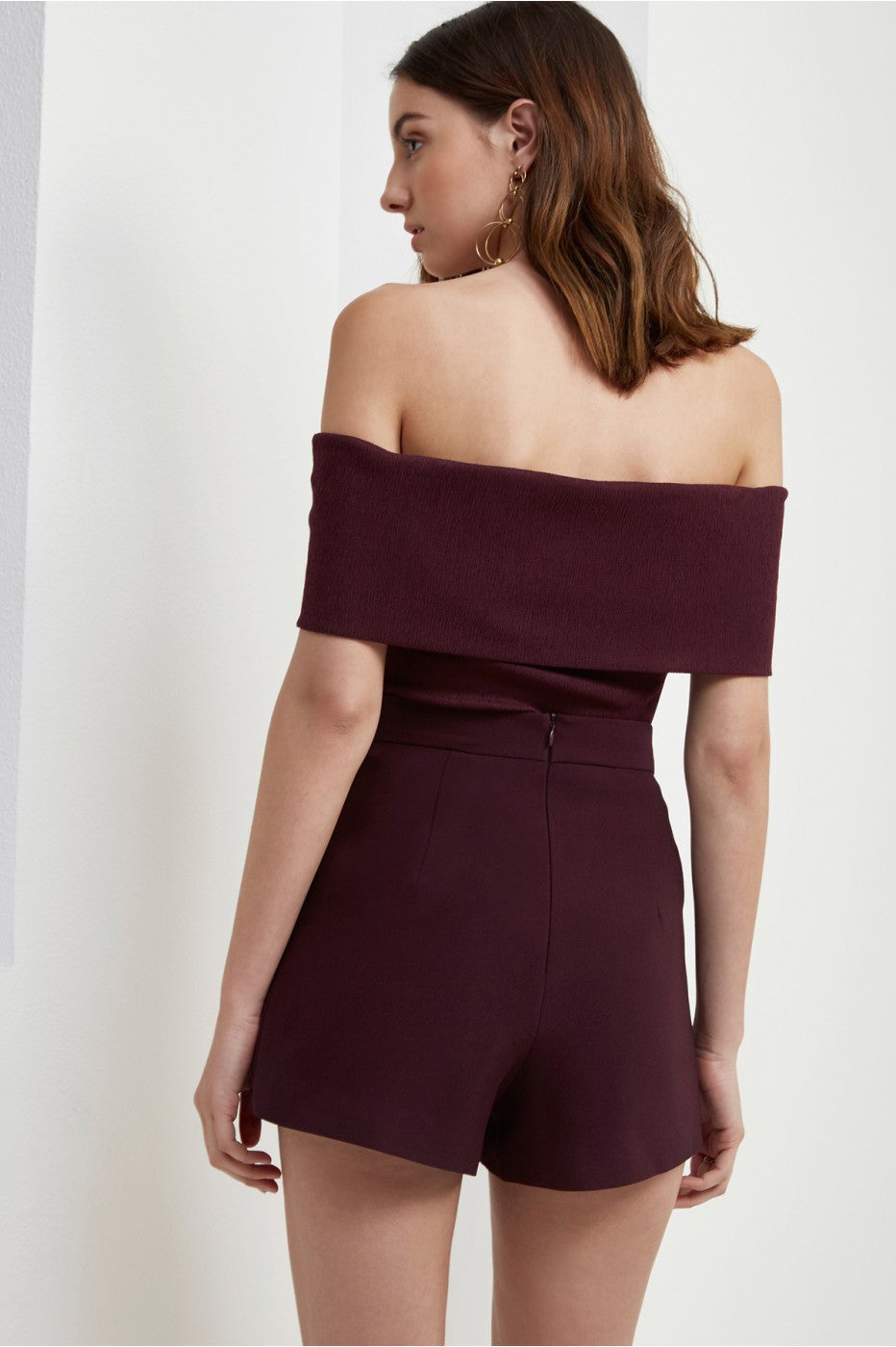 Interlude Off Shoulder Top in Aubergine - Sallyrose