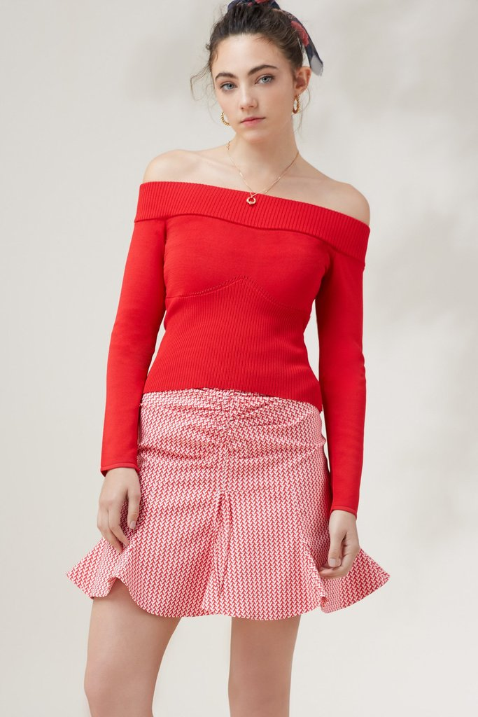 Earthbound Knit Top Red - Sallyrose