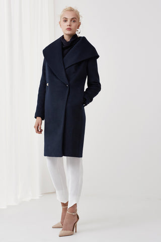 Lunar Coat in Navy - Sallyrose