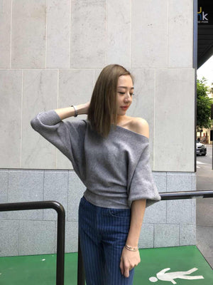 Rise Up Knit Top Grey