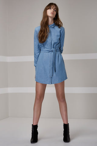 Blue Eyes Shirt Dress - Sallyrose