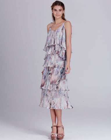 Winnie Pleated Tier Skirt Dreamy Rose