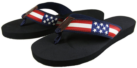 Belted Cow Men's USA Flag Sandals - Legit Lacrosse, Inc.
